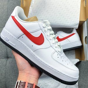 ❤️💙🤍 Nike Air Force 1 white red blue shoes